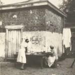 Laundry Hanging & Hog Killing Time, Smoke House, 1934