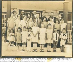 1925 Foy Family Reunion Winston-Salem
