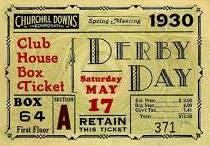 derby ticket 1930